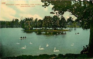 Alabama Al Anniston Oxford Lake Oxford Lake Park Early Postcard