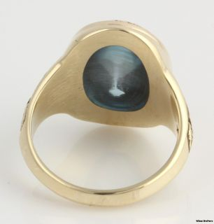 of North Carolina Womens Class Ring   10k Gold Syn Blue Spinel UNC CH