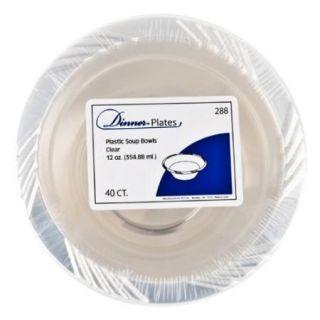 12 oz Clear Lightweight Plastic Soup Bowls 40 Pcs Home Party