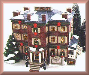 Old Chelsea Mansion w Night Before Christmas New Department Dept 56