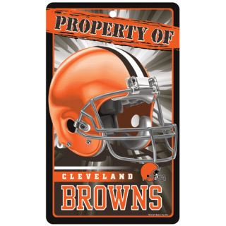 "Cleveland Browns Property of Sign 7 25""X12"""