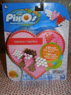 Pixos Valentine Kit with 130 Pieces and Templates NIP
