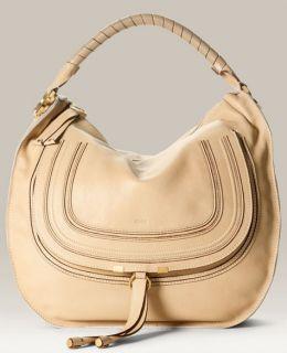 description authentic chloe marcie medium leather hobo bag textured