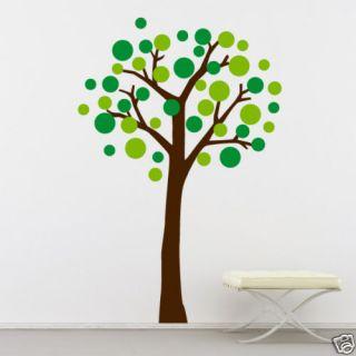 Wallart Vinyl Decal Nursery Sticker Circle Tree Dots