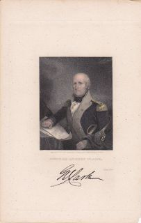 George Rogers Clark Revolutionary War Gen Hand Colored
