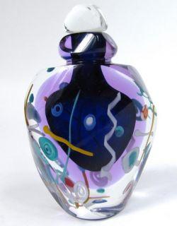 James Clarke 1992 Signed Art Glass Perfume Bottle Stopper Vanity