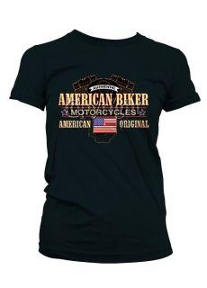 American Biker Motorcycles Chopp Girls Juniors T Shirts