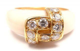 RARE AUTHENTIC VAN CLEEF & ARPELS VCA 18K YELLOW GOLD DIAMOND WHITE