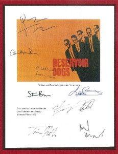 RESERVOIR DOGS SIGNED SCRIPT RPT QUENTIN TARANTINO, HARVEY KEITEL, TIM