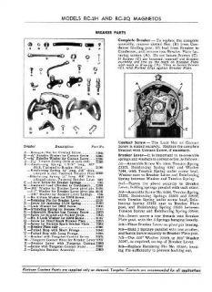 Eisemann RC 2H RC 2Q Magneto Service Handbook w Parts