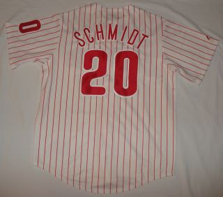 Phillies Baseball Schmidt Throwback Jersey Large Stripe