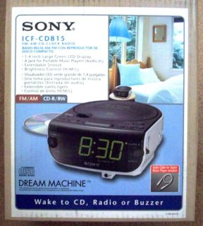 Model ICF CD815 FM AM CD Clock Radio Dream Machine with 3 Mode Alarm