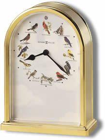 Howard Miller Songbirds of North America III Quartz Table Clock