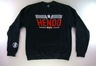 Clinch Gear Mens Heather Gray Grey Crew Sweatshirt Hendo Fedor MMA