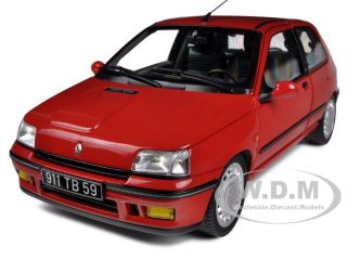 1991 RENAULT CLIO 16S RED 1/18 DIECAST CAR MODEL BY NOREV 185231