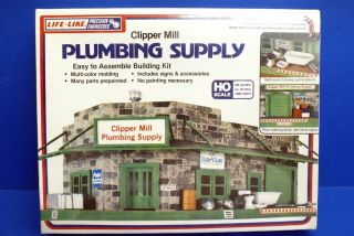 Life Like HO Scale Clipper Mill Plumbing Supply Building Kit SEALED