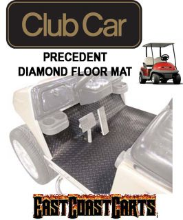 Club Car Precedent Golf Cart Diamond Floor Mat Black Rubber