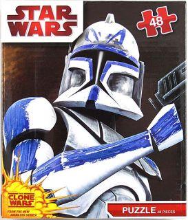 description star wars clone wars clone trooper 48pc puzzle box