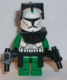 Lego Star Wars Clone Wars Custom Commander Gree w/ Battle Gear & 2