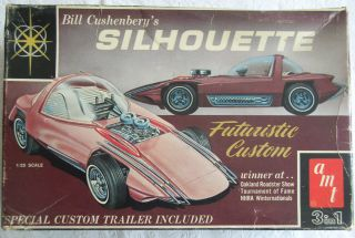 old vintage classic car plastic model kit AMT Silhouette Futuristic