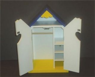 Build a bear wooden wardrobe