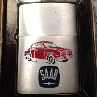 Vintage 1967 Saab Zippo Lighter Original Box Unused• $1 Opening Bid