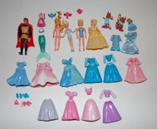 Lot of Disney Polly Pocket Princess Prince Philip Clothes Shoes