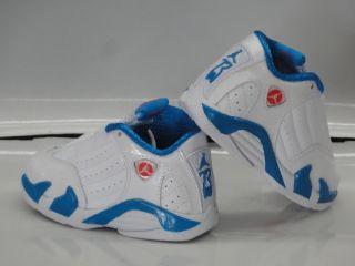 Nike Air Jordan 14 Retro White Blue Sneakers Toddler Baby Size 6.5