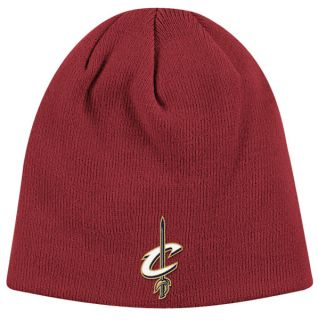 Cleveland Cavaliers Maroon Basic Logo Uncuffed Knit Hat