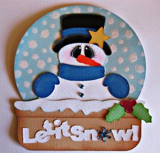 Snow Globe Premade Winter Christmas Paper Piecing for Scrapbook Pages