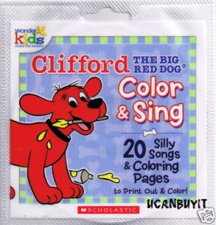 Wonder Kids Top 20 Clifford Big Red Dog Silly Songs CD