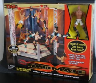 Sided Wrestling Ring w Chris Daniels Figure and x Division Belt