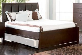 Cal King Bed in Deep Brown Finish by Coaster Furniture 201511KW