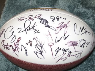 2010 Green Bay Packers Team Signed Autograph Football