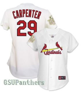 Chris Carpenter 2011 St Louis Cardinals World Series Home Womens