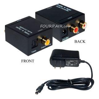 Digital SPDIF Coaxial Coax RCA Optical Toslink Audio Converter