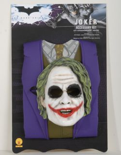 Batman The Dark Knight Childs The Joker Costume and Accessory Set