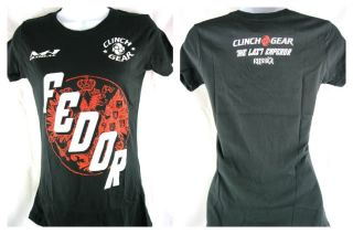 Fedor Emelianenko Clinch Gear Chicago Womens Short Sleeve T Shirt New