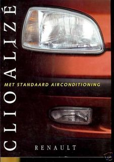 Renault Clio Alize Brochure Dutch 1996