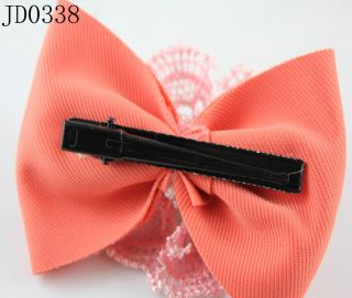 Vogue Girl Womens Orange Flower Bowknot Barrettes Hair Pin Hair Clips