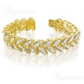 Van Cleef Arpels Estate Circa 1960s 18K Yellow Gold Diamond Bracelet
