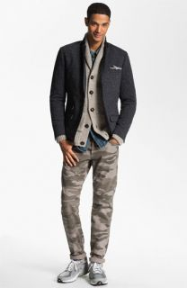 Original Penguin Blazer, Vince Shawl Collar Cardigan, Obey Shirt & Splendid Mills Slim Straight Leg Jeans