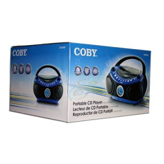 Coby Portable Boombox CD Player Radio Personal Blue New