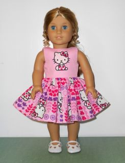 Beautiful Hello Kitty Dress Fits 18 American Girl Doll Clothes