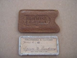 Vintage Strawbridge Clothier Plate Credit Charge Card