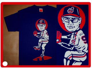 Cajmear Charlie Sheen Indians shirt Cleveland Rick Vaughn mishka obey