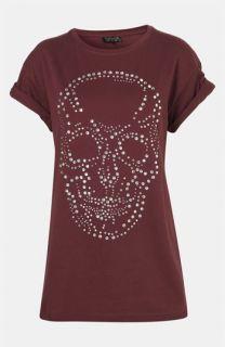 Topshop Crystal Skull Tunic Tee