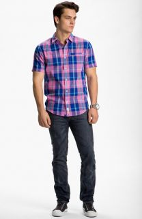 Original Penguin Sport Shirt & DIESEL® Slim Straight Leg Jeans