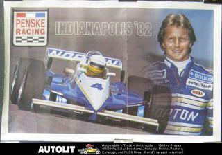 1982 Penske Gould Racing Indy Race Car Poster Cogan