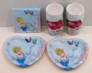 Disney Cinderella Birthday Party 16 Dessert Plates Bev Napkins Cups